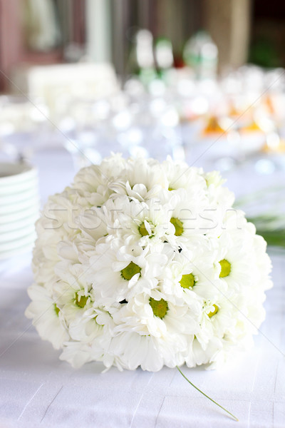 Decoration of dining table for wedding reception Stock photo © photobac