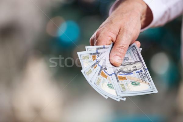 Mão dinheiro natal masculino negócio casa Foto stock © photobac