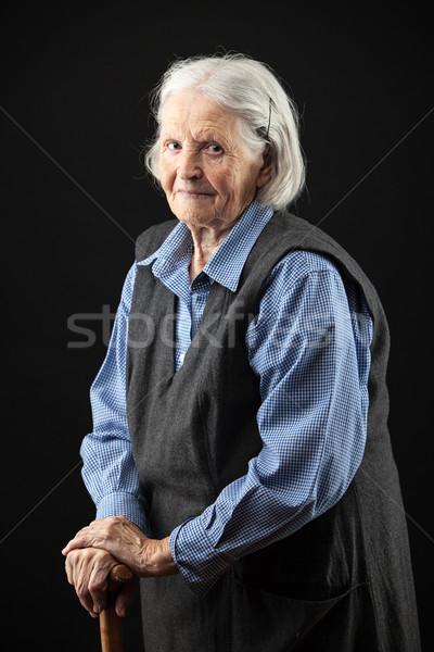 Portret senior vrouw naar Stockfoto © photobac