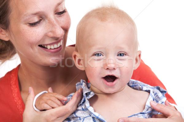 Ver caucasiano mulher bebê filho jovem Foto stock © photobac