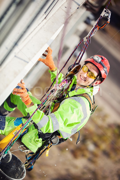 Industrial climber during insulation works Stock photo © photobac