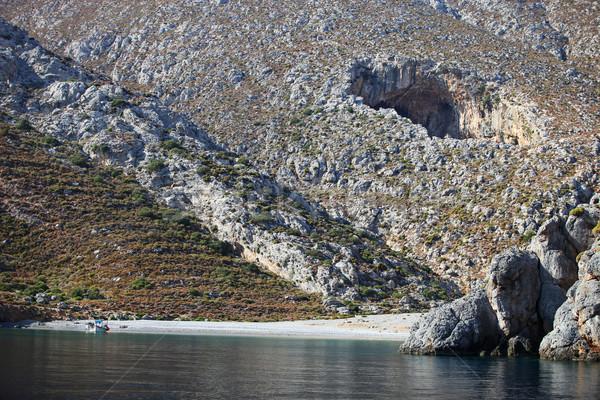 Kilátás barlang Görögország sziget víz nap Stock fotó © photobac