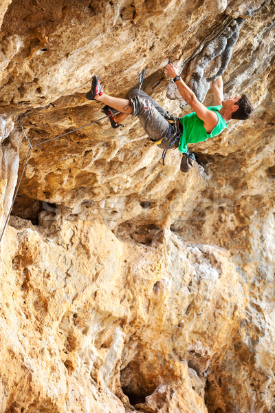 Rock climber on a cliff Stock photo © photobac