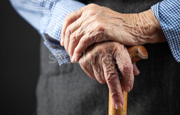 Closeup of senior woman's hands Stock photo © photobac