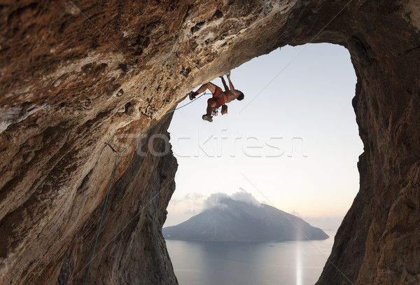 Rock climber on cliff Stock photo © photobac