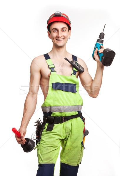 Workman in light green uniform Stock photo © photobac
