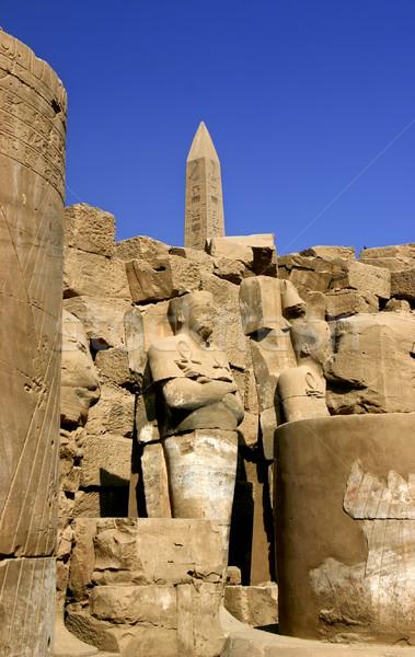 Karnak obelisk in Luxor Egypt Stock photo © photoblueice