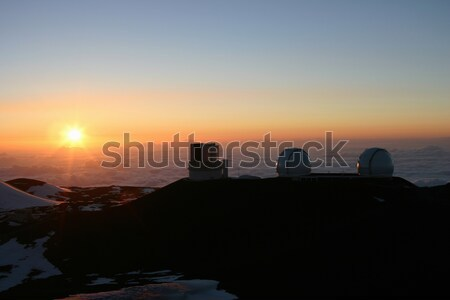 Hawaii belle coucher du soleil haut regarder grand Photo stock © photoblueice