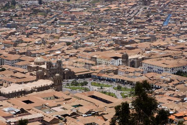 Città Perù arancione viaggio montagna Foto d'archivio © photoblueice
