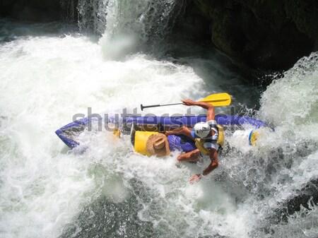 Vízesés folyó Belize kajakozás Stock fotó © photoblueice