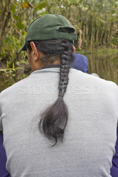 Male Hair style of the High Andes Stock photo © photoblueice