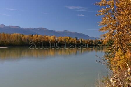 Autumn on the Fraser River Stock photo © photoblueice