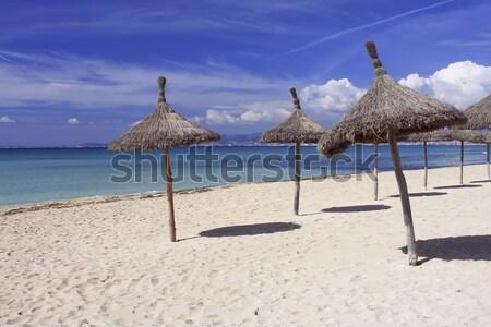 Spiaggia Spagna sole ombrelli Foto d'archivio © photoblueice