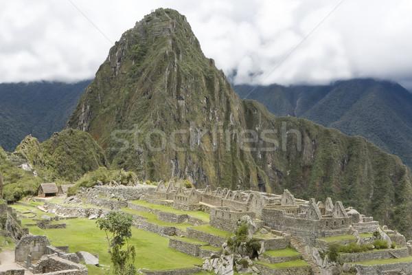 Machu Picchu inca ruines Peru Stockfoto © photoblueice