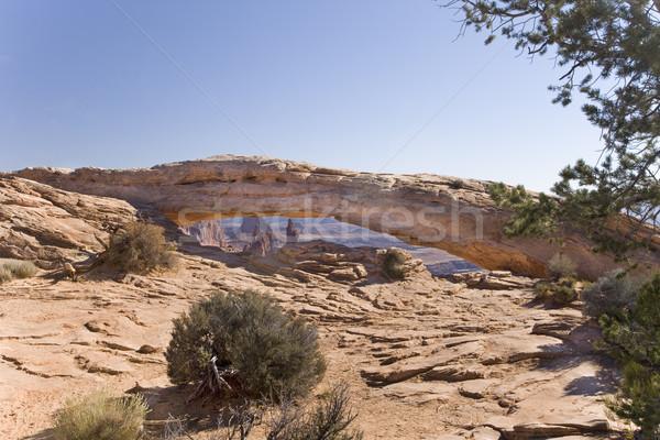 Arc parc Utah lung curba piatră Imagine de stoc © photoblueice