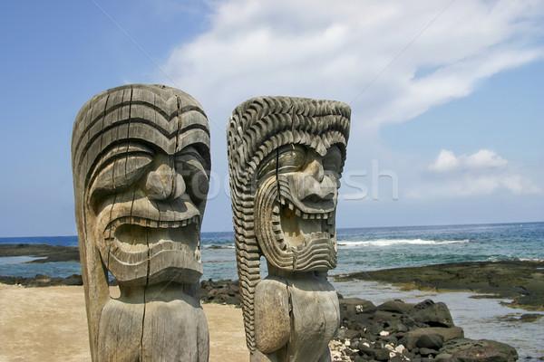 Artifacts on the Big Island of Hawaii Stock photo © photoblueice