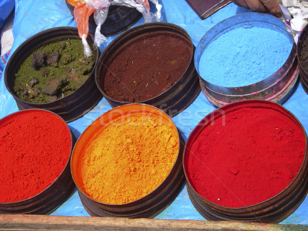 Nature coloring dyes in Cuzco Peru Stock photo © photoblueice
