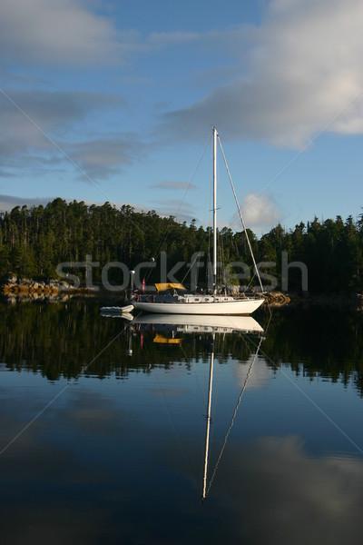 Zeil boot west kust Canada klein Stockfoto © photoblueice