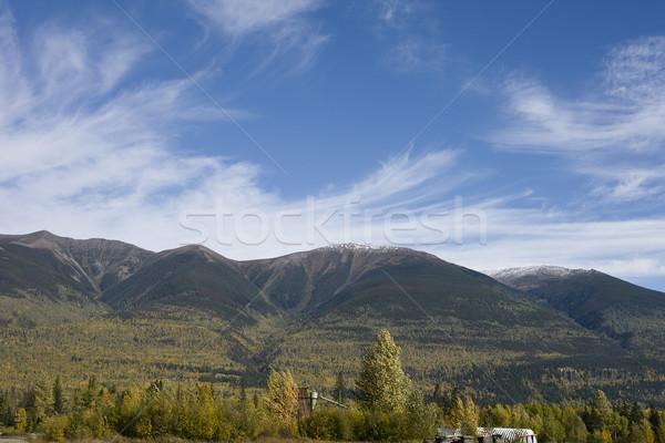 Cloudscape over mill Stock photo © photoblueice