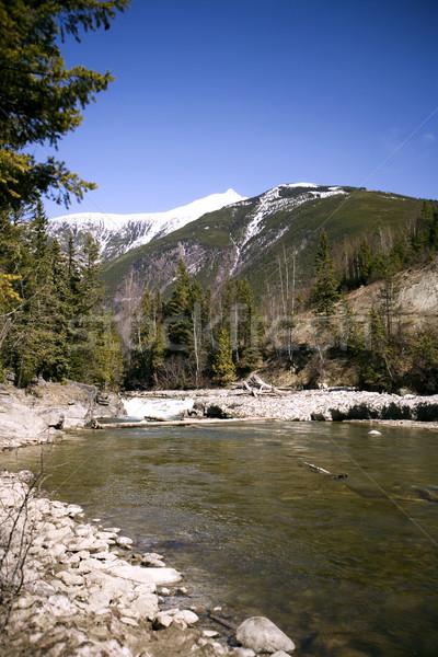 Râu munţi zăpadă Imagine de stoc © photoblueice