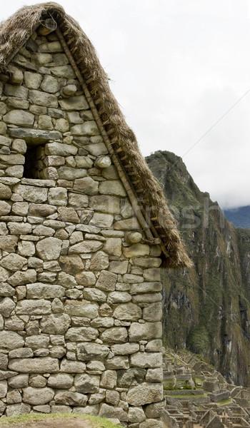 Guard house in Machu Picchu Peru Stock photo © photoblueice