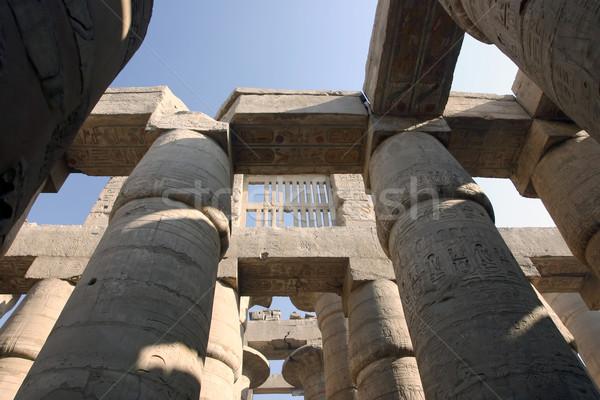 Groot hal tempel luxor Egypte Stockfoto © photoblueice