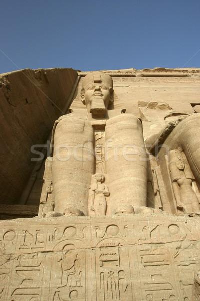 Statue of Ramses II at Abu Simbel Stock photo © photoblueice