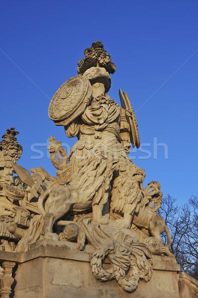 Statue in Schonbrunn Vienna Stock photo © photoblueice