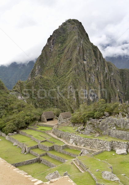 Overview of Machu Picchu Inca ruins Peru Stock photo © photoblueice