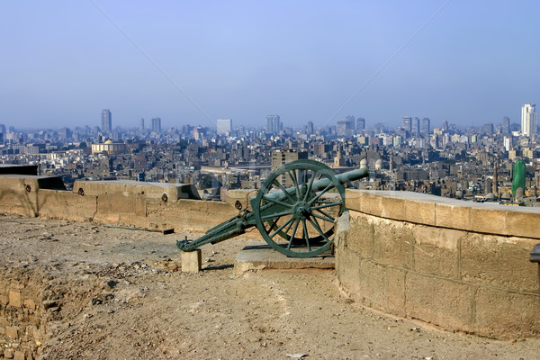 Cannon in Citadel in Cairo Egypt Stock photo © photoblueice