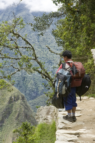Porter for the inca Trail in Peru Stock photo © photoblueice