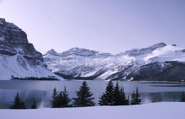 Frozen Lake in Jasper Park Alberta Stock photo © photoblueice