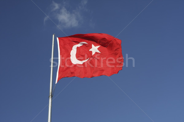 Turkish Flag Stock photo © photoblueice