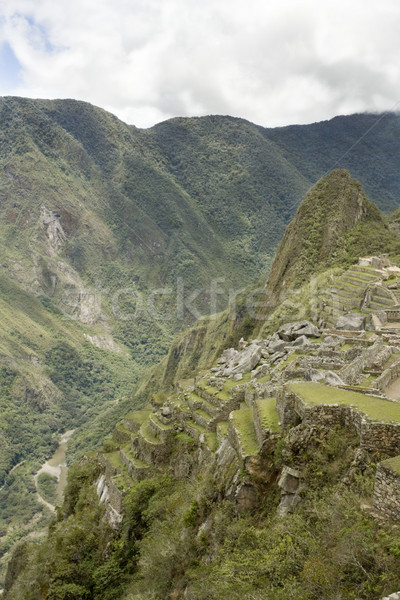 Machu Picchu steep view Stock photo © photoblueice