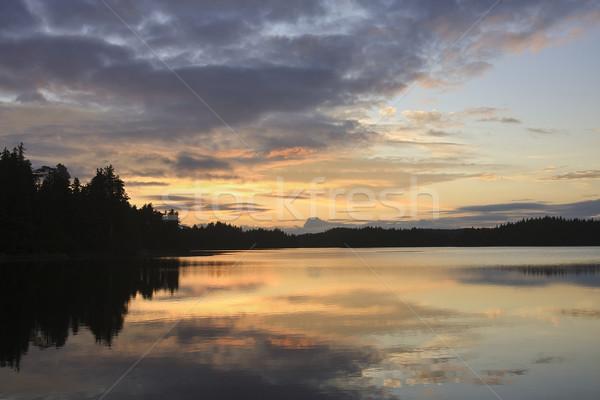 океана закат облака природы пейзаж красоту Сток-фото © photoblueice