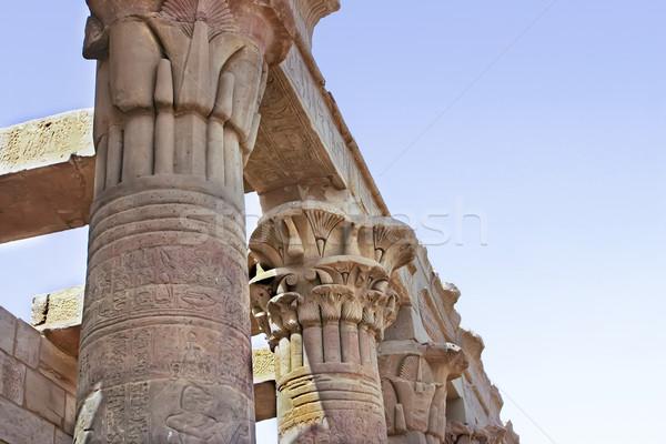 Steen tempel mijlpaal Stockfoto © photoblueice