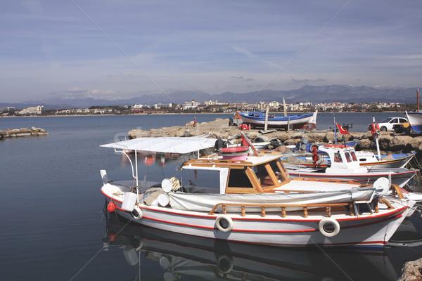 Bărci lateral marea mediterana mare Imagine de stoc © photoblueice