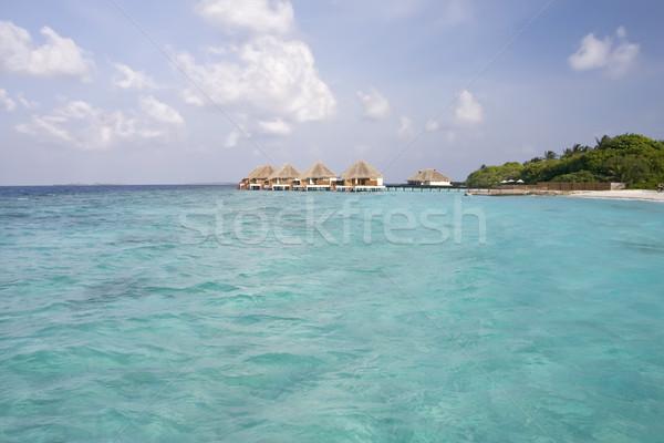 тропический пляж Мальдивы острове пляж воды тело Сток-фото © photoblueice