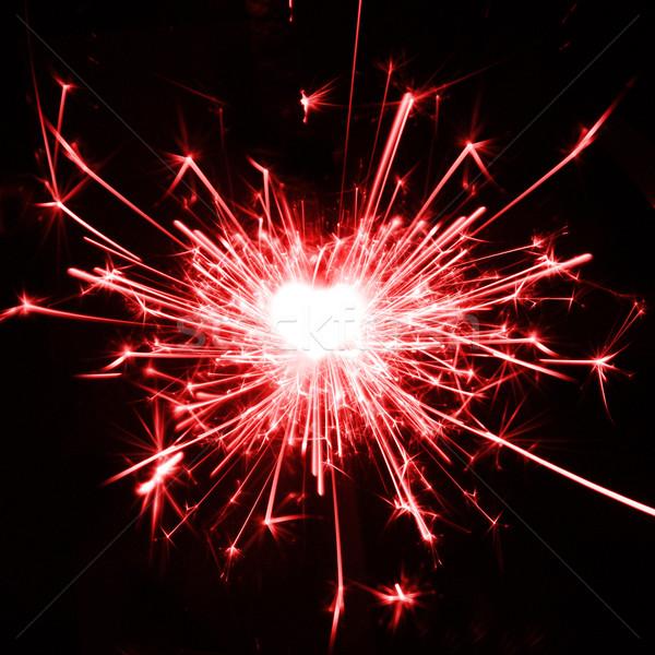 Liebe Brennen Wunderkerze Form Herz Hintergrund Stock foto © photochecker