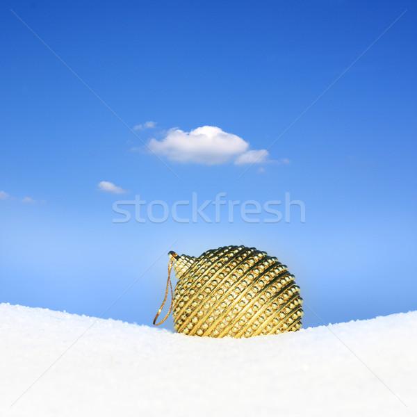 Golden Spielerei Tapete Weihnachten Schnee Himmel Stock foto © photochecker
