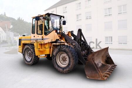 Gelb Bulldozer groß Baustelle Deutschland Bau Stock foto © photochecker