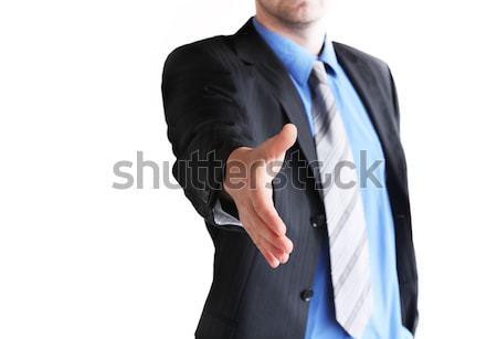 Handshake jungen Geschäftsmann Hand Business Sitzung Stock foto © photochecker