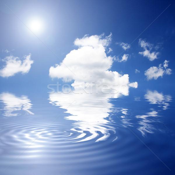 Himmel blauer Himmel Ozean Natur Landschaft Meer Stock foto © photochecker