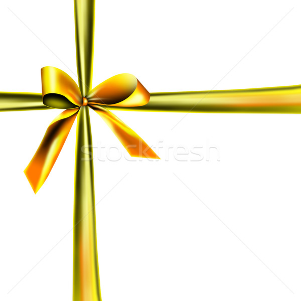 white packaging with golden ribbon Stock photo © photochecker