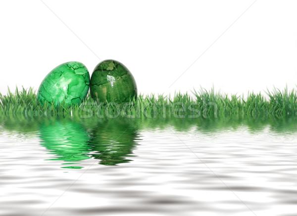 green easter eggs Stock photo © photochecker