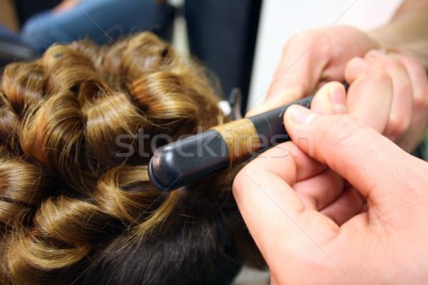 Friseur Master Kundschaft Haar Gesicht Mode Stock foto © photochecker