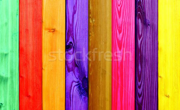 Farbenreich Holz schönen Holz Gebäude Stock foto © photochecker