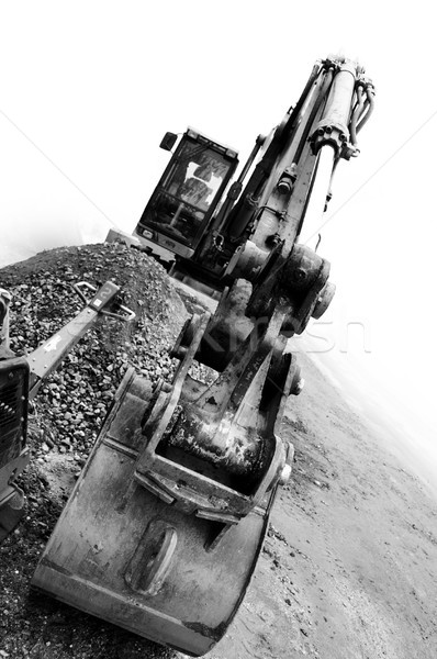 backhoe digging bulk Stock photo © photochecker