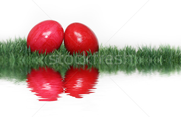 Red eggs mirrored  Stock photo © photochecker