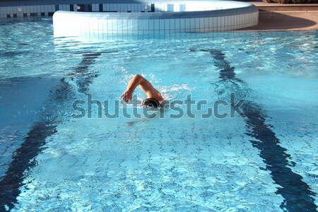 a man learn swim the crawl in water Stock photo © photochecker